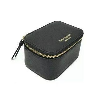 NWT Kate Spade Cameron Jewelry Case Black Leather